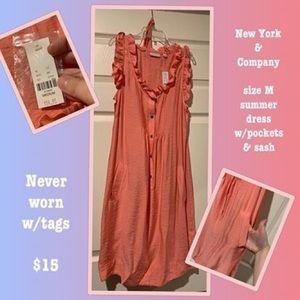 Sleeveless peach dress